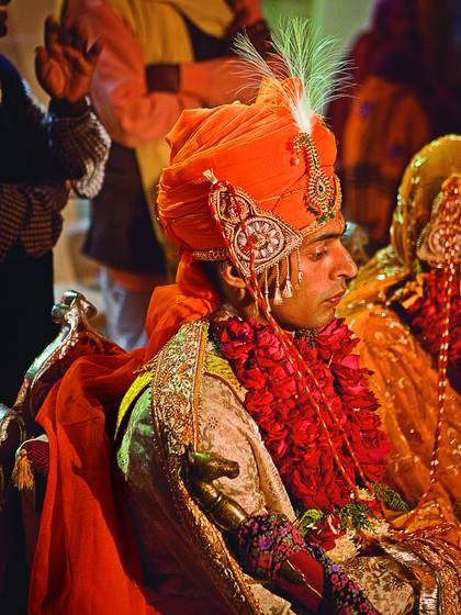 The bride groom