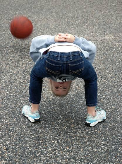 Sadie and basketball