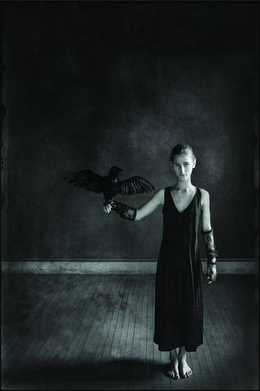 Girl with crow