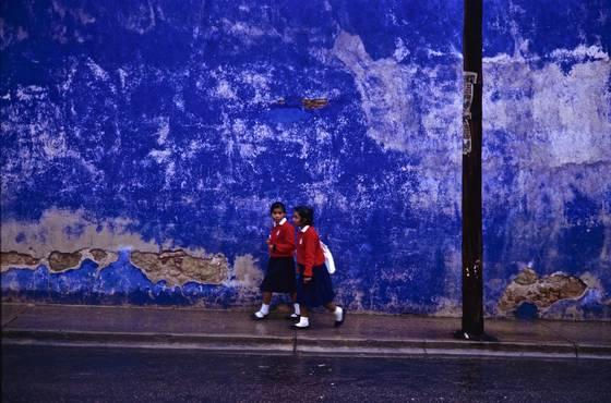 Blue wall in oaxaca