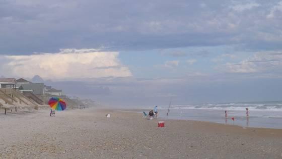 Topsail at the beach no  3