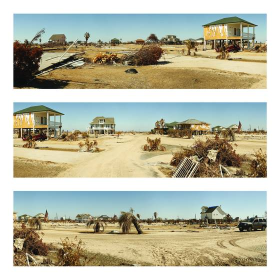 Triptych   crystal beach after hurrican ike