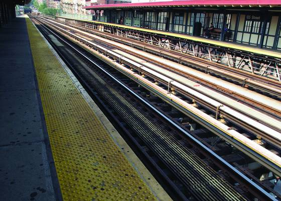 The 1 train stop