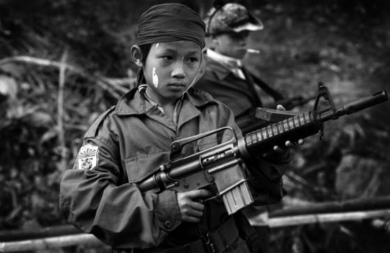 Karen child soldiers