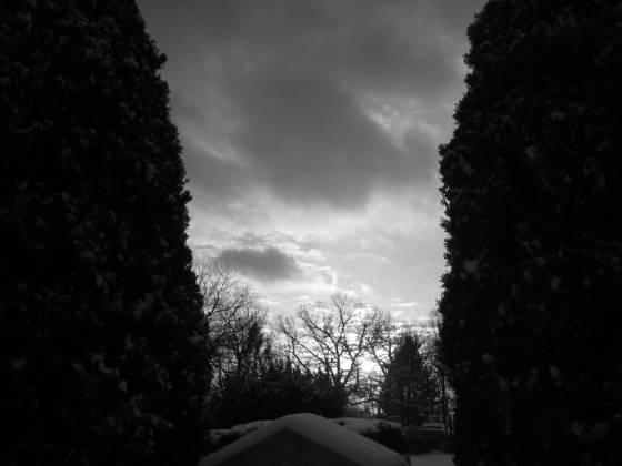Graveyard at dusk