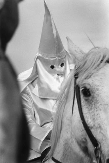 Scary mounted klansman