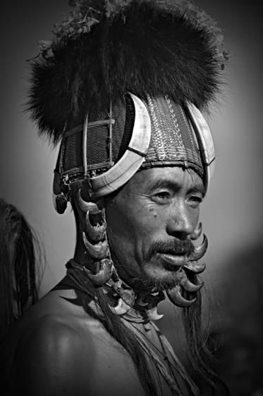 Konyak tribesman