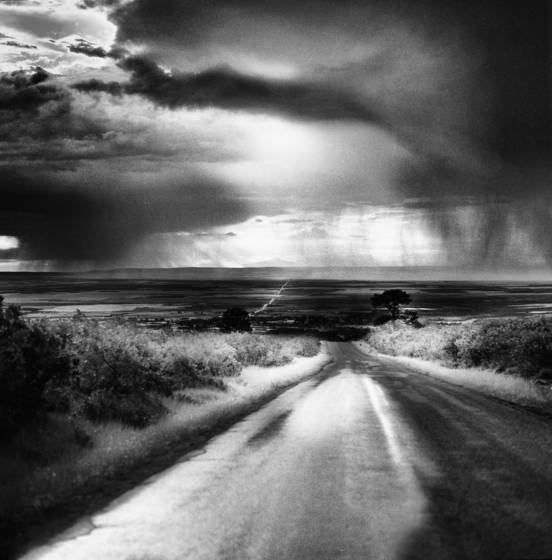 Morning squall on the road to cortez