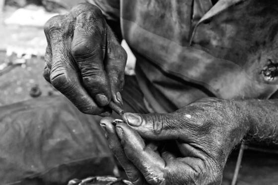 Hands of labor