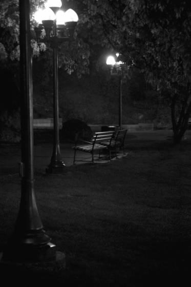 Park at dark