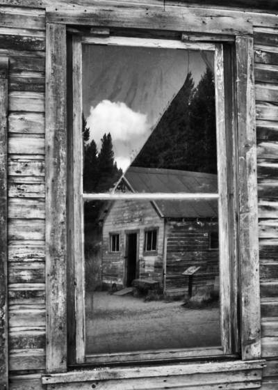 Ghost town reflection