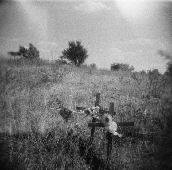 Hillside graves