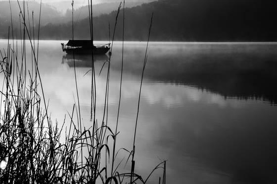 Boat on loch ard