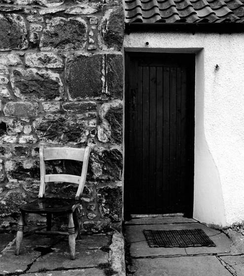 Chair and door