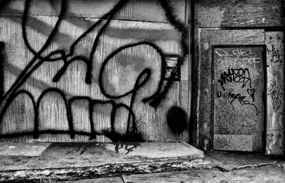 Graffiti with door