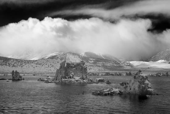 Clouds over eastern sierras