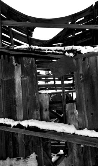 Temple snow in bodie