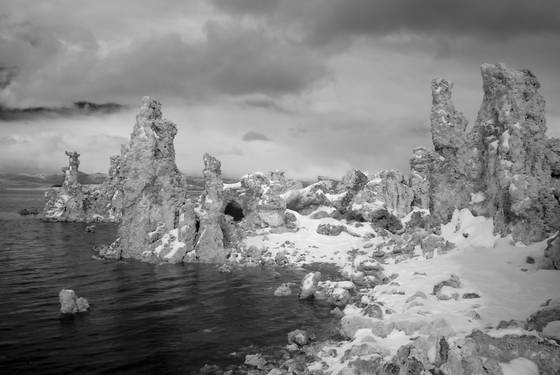 South tufa and fresh snow