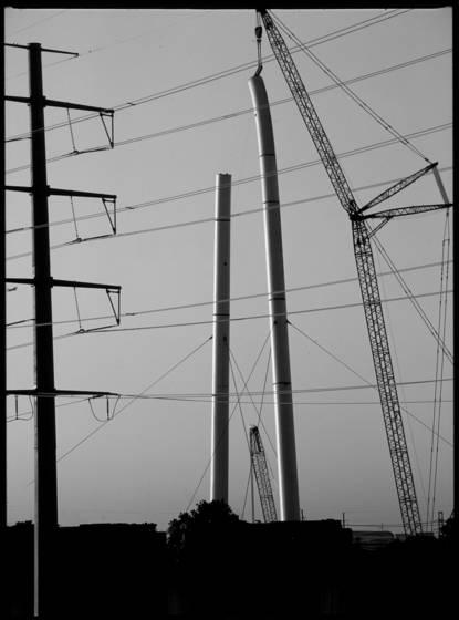 Calatrava crane pole and wires