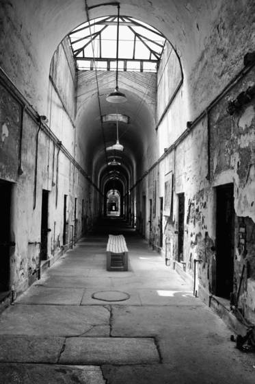 State penitentiary  hall and bench