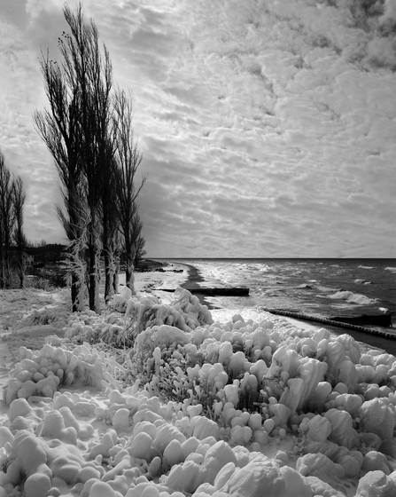Winter at point betsie