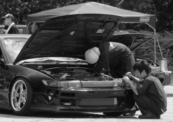 Last minute repairs