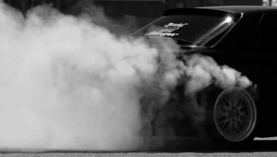 Tire smoke