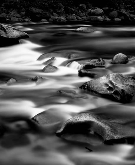 Merced river night cascade
