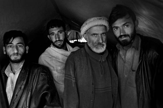 Villagers who survived the balakot earthquake