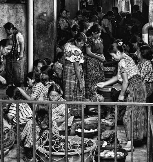 Women in busy market