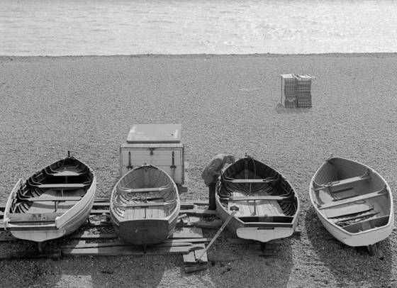 Four old boats