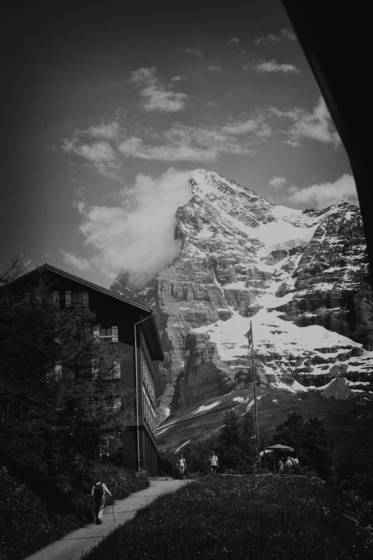 Eiger from the train