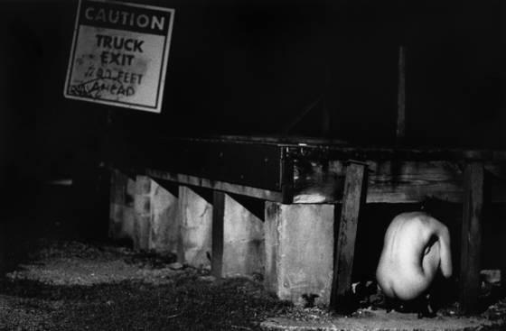 Caution truck exit