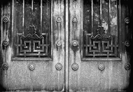 Crypt door detail