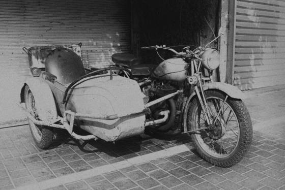 Antique sidecar