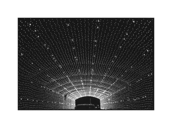 Night lights tunnel