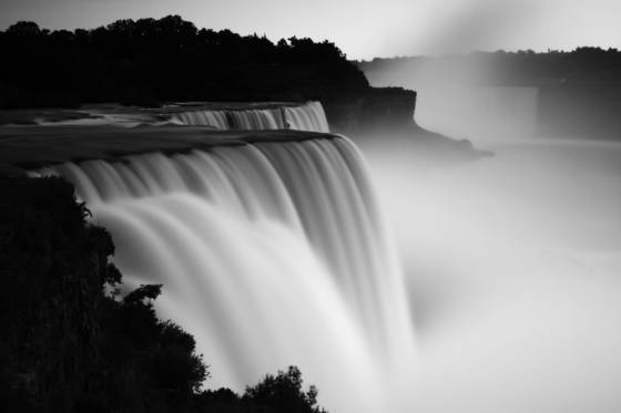 Mist over the falls