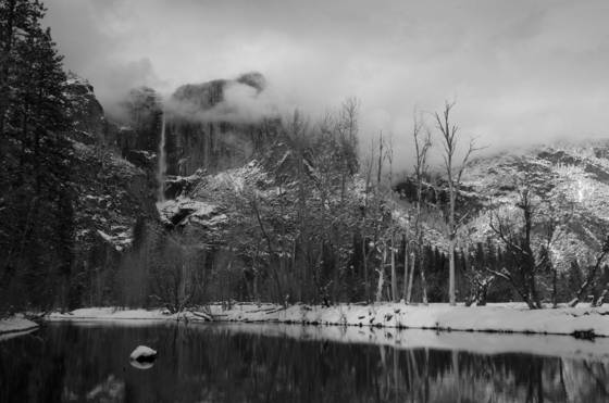 The winter of yosemite