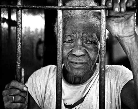 Woman in her prison