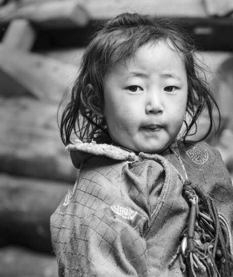 Girl at gompa