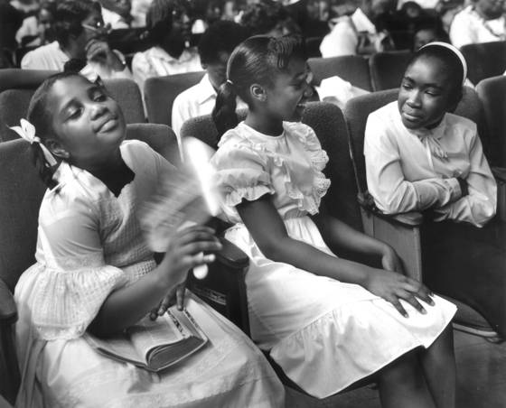 Girls in church