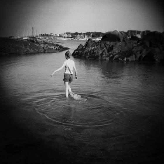 Girl in marblehead harbor