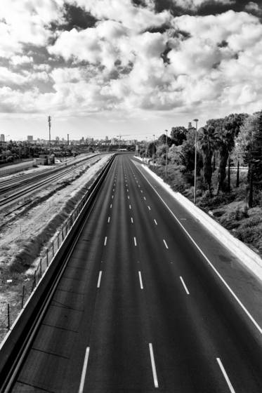 Deserted highway tel aviv israel 2012