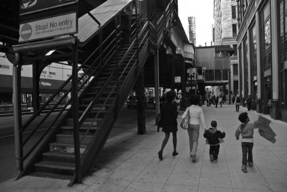 Along the el chicago ill 2012