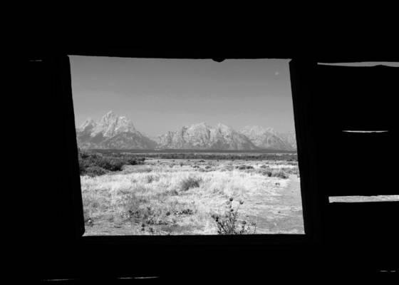 Cabin window grand teton 2012