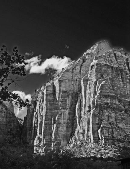 Zion cliff