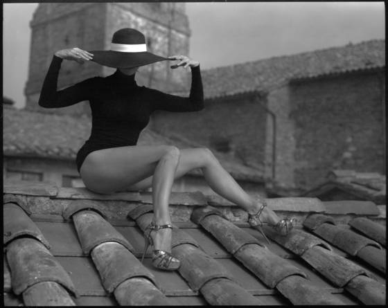 Woman on the roof