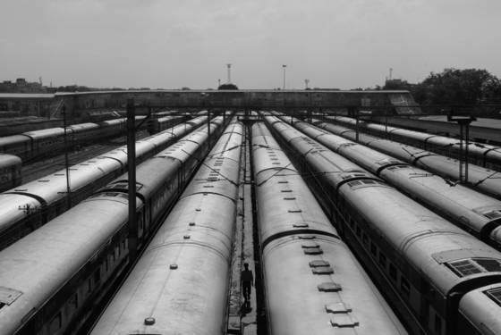 Train station in old delhi