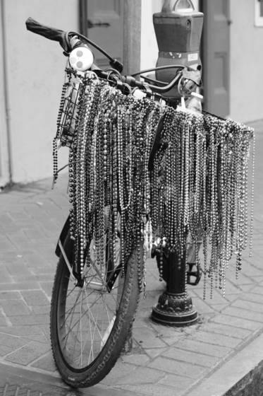 Mardi gras bicycle