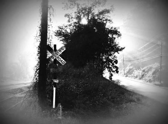 Railroad at sunrise asheville